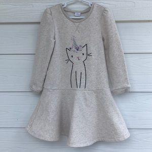 Gap Unicorn Kitty Long Sleeve Dress